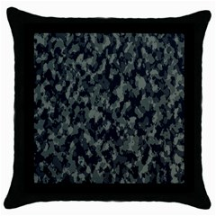 Camouflage Tarn Military Texture Throw Pillow Case (black) by Celenk