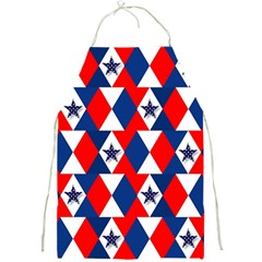 Patriotic Red White Blue 3d Stars Full Print Aprons by Celenk
