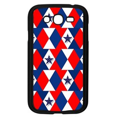 Patriotic Red White Blue 3d Stars Samsung Galaxy Grand Duos I9082 Case (black) by Celenk