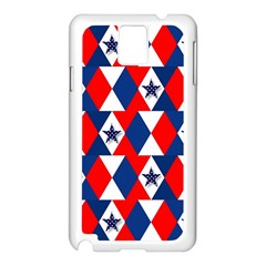 Patriotic Red White Blue 3d Stars Samsung Galaxy Note 3 N9005 Case (white) by Celenk