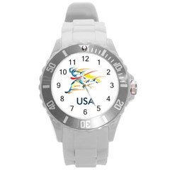 F686a000 1c25 4122 A8cc 10e79c529a1a Round Plastic Sport Watch (l) by MERCH90