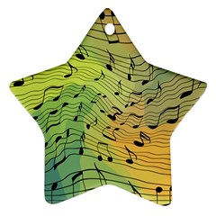 Music Notes Ornament (star) by linceazul