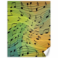 Music Notes Canvas 12  X 16   by linceazul