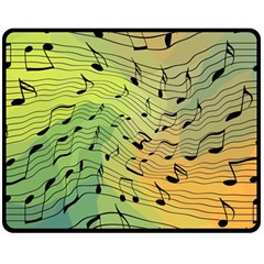 Music Notes Fleece Blanket (medium)  by linceazul