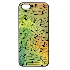 Music Notes Apple Iphone 5 Seamless Case (black) by linceazul