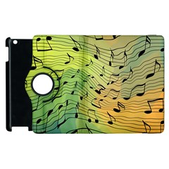 Music Notes Apple Ipad 3/4 Flip 360 Case by linceazul