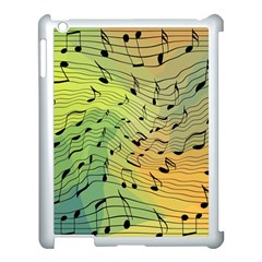 Music Notes Apple Ipad 3/4 Case (white) by linceazul