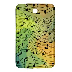 Music Notes Samsung Galaxy Tab 3 (7 ) P3200 Hardshell Case  by linceazul
