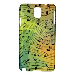 Music Notes Samsung Galaxy Note 3 N9005 Hardshell Case by linceazul