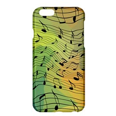 Music Notes Apple Iphone 6 Plus/6s Plus Hardshell Case by linceazul