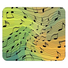 Music Notes Double Sided Flano Blanket (small)  by linceazul