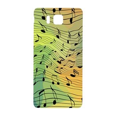 Music Notes Samsung Galaxy Alpha Hardshell Back Case by linceazul