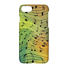 Music Notes Apple Iphone 7 Hardshell Case by linceazul