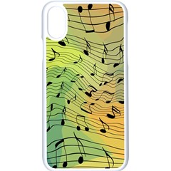 Music Notes Apple Iphone X Seamless Case (white)