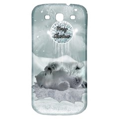 Cute Polar Bear Baby, Merry Christmas Samsung Galaxy S3 S Iii Classic Hardshell Back Case by FantasyWorld7