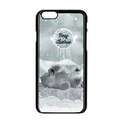 Cute Polar Bear Baby, Merry Christmas Apple Iphone 6/6s Black Enamel Case by FantasyWorld7