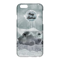 Cute Polar Bear Baby, Merry Christmas Apple Iphone 6 Plus/6s Plus Hardshell Case by FantasyWorld7