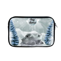 Cute Polar Bear Baby, Merry Christmas Apple Macbook Pro 13  Zipper Case by FantasyWorld7