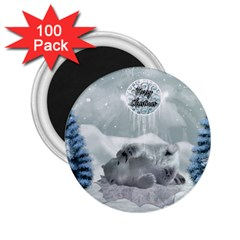 Cute Polar Bear Baby, Merry Christmas 2 25  Magnets (100 Pack)  by FantasyWorld7