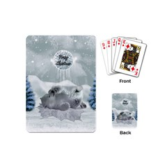 Cute Polar Bear Baby, Merry Christmas Playing Cards (mini)  by FantasyWorld7