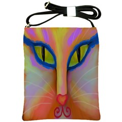 Cat Face Shoulder Sling Handbag Shoulder Sling Bags by paintedpurses