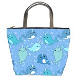 Cute Narwhal Pattern Bucket Bags Front