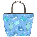 Cute Narwhal Pattern Bucket Bags Back