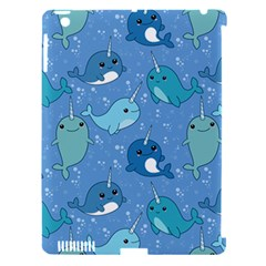 Cute Narwhal Pattern Apple Ipad 3/4 Hardshell Case (compatible With Smart Cover)