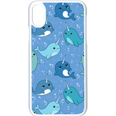 Cute Narwhal Pattern Apple Iphone X Seamless Case (white) by allthingseveryday