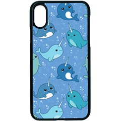 Cute Narwhal Pattern Apple Iphone X Seamless Case (black) by allthingseveryday
