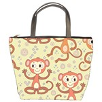 Cute Cartoon Monkeys Pattern Bucket Bags Front