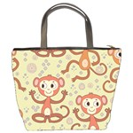 Cute Cartoon Monkeys Pattern Bucket Bags Back