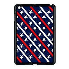 Patriotic Red White Blue Stars Apple Ipad Mini Case (black)