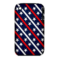 Patriotic Red White Blue Stars Iphone 3s/3gs by Celenk