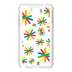 Celebrate Pattern Colorful Design Samsung Galaxy Note 3 N9005 Case (white)