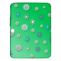 Snowflakes Winter Christmas Overlay Samsung Galaxy Tab 3 (10 1 ) P5200 Hardshell Case  by Celenk
