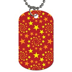 Star Stars Pattern Design Dog Tag (one Side)