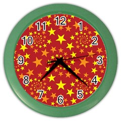Star Stars Pattern Design Color Wall Clocks by Celenk