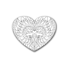 Heart Love Valentines Day Heart Coaster (4 Pack)