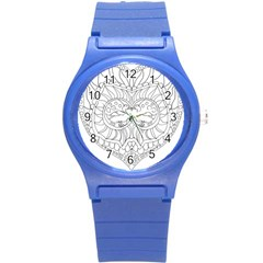 Heart Love Valentines Day Round Plastic Sport Watch (s) by Celenk