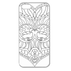 Heart Love Valentines Day Apple Seamless Iphone 5 Case (clear)