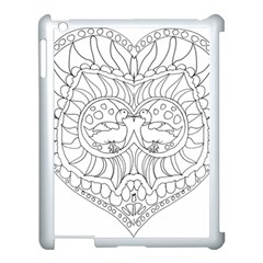 Heart Love Valentines Day Apple Ipad 3/4 Case (white) by Celenk