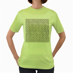 Halloween Lilac Paper Pattern Women s Green T Shirt