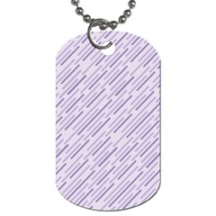 Halloween Lilac Paper Pattern Dog Tag (two Sides)