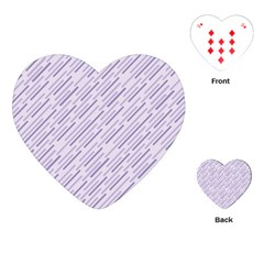 Halloween Lilac Paper Pattern Playing Cards (heart)  by Celenk