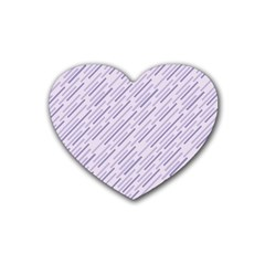 Halloween Lilac Paper Pattern Rubber Coaster (heart)