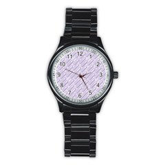 Halloween Lilac Paper Pattern Stainless Steel Round Watch by Celenk