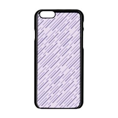 Halloween Lilac Paper Pattern Apple Iphone 6/6s Black Enamel Case by Celenk
