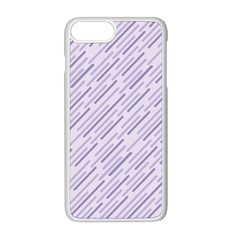Halloween Lilac Paper Pattern Apple Iphone 8 Plus Seamless Case (white)