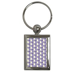 Bat And Ghost Halloween Lilac Paper Pattern Key Chains (rectangle)